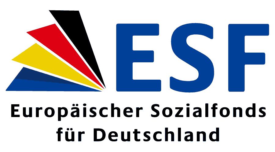 Europäischer Sozialfonds für Deutschland (ESF) Logo Vector