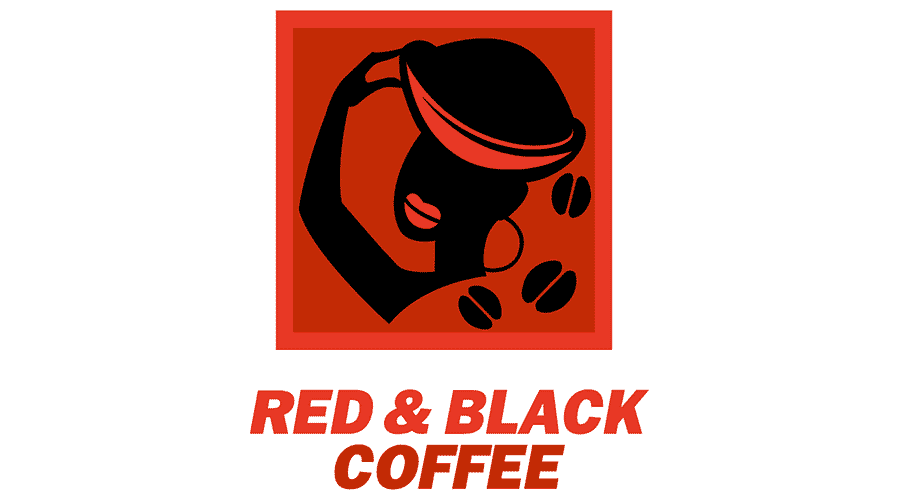 Red and Black Coffee Logo Vector